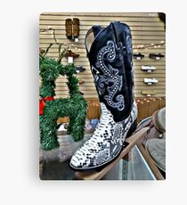 Snakeskin Boots Canvas Print