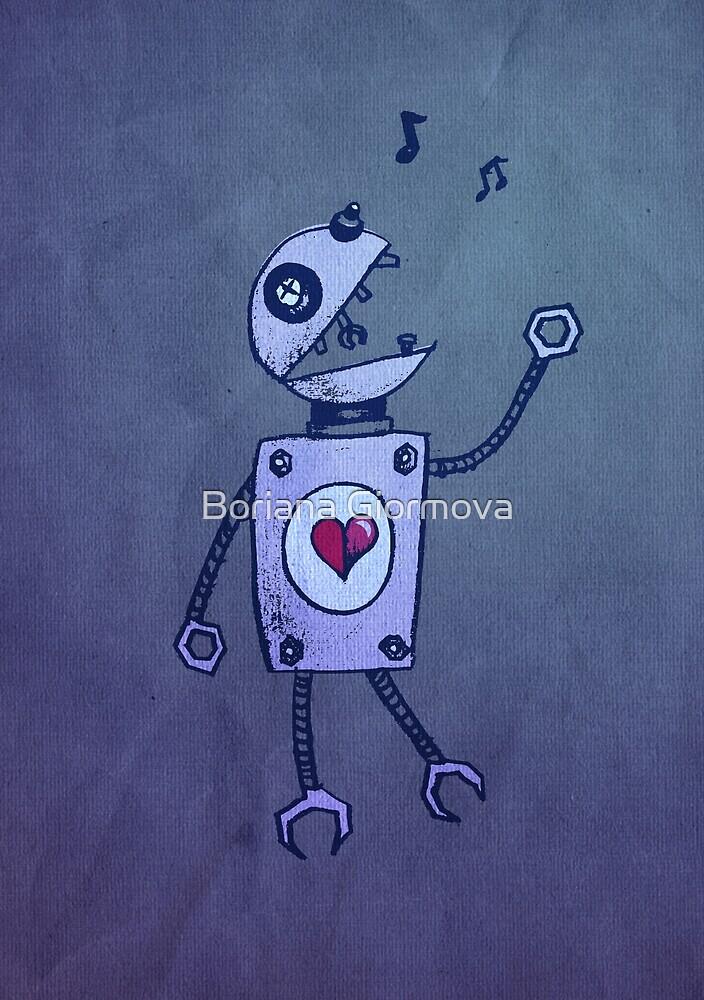 Happy Singing Robot by Boriana Giormova
