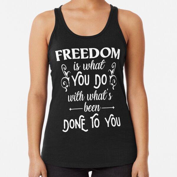 Freedom | Jean-Paul Sartre Racerback Tank Top