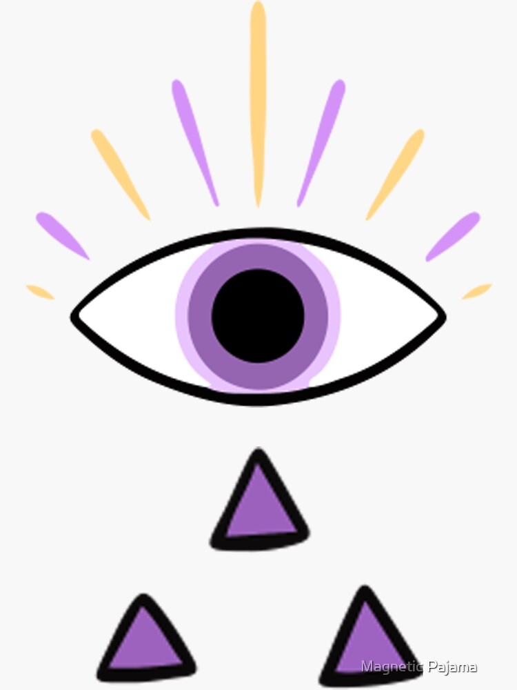 All-Seeing Eye with Sacred Geometry Tears // Witch Magic Sticker by MagneticMama