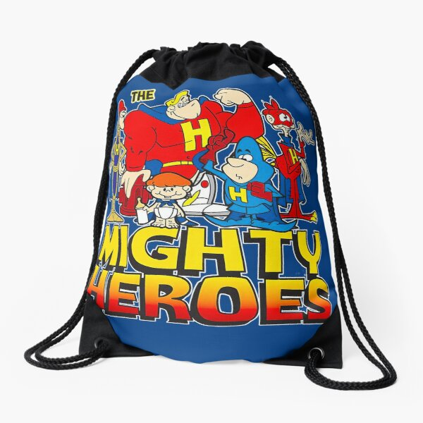 The Mighty Heroes Drawstring Bag