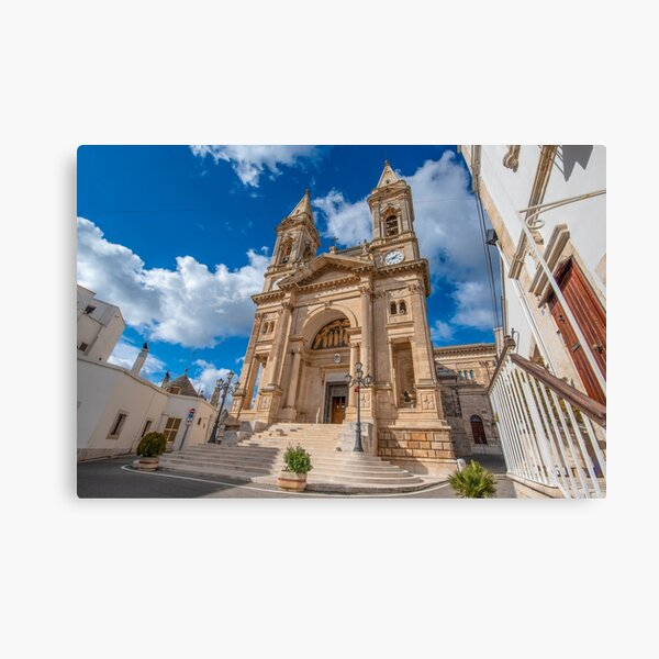 The cathedral of Saints Cosmas and Damian in Alberobello, Italy Canvas Print