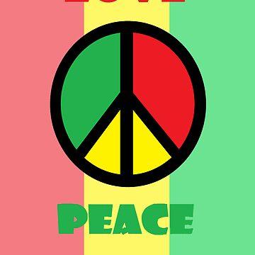 love & peace by errolmurillo