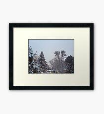 Winter Morning Snow Scene Framed Print