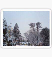 Winter Morning Snow Scene Sticker