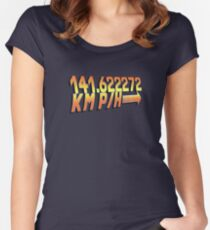 BTTF in Metric Women's Fitted Scoop T-Shirt