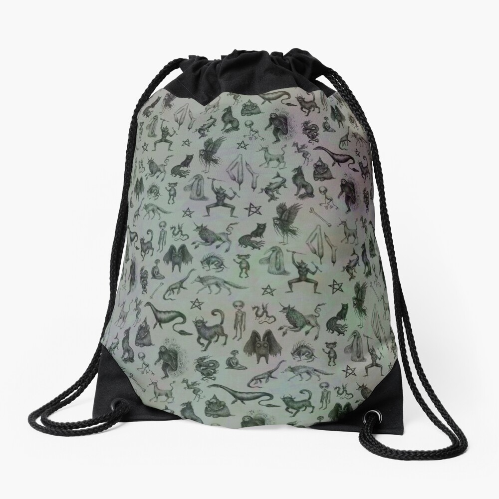 Cryptid Crew Drawstring Bag