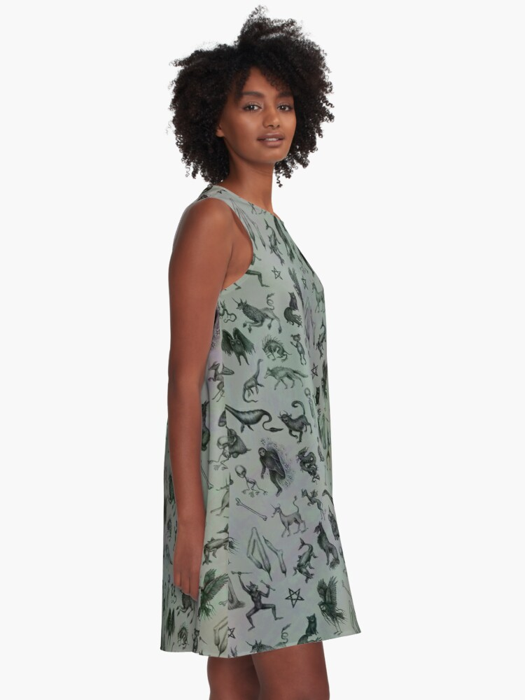 Alternate view of Cryptid Crew A-Line Dress