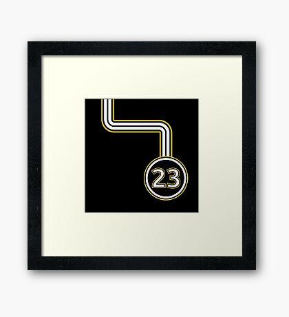 23 Framed Print