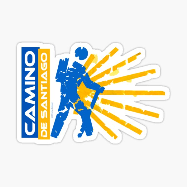 Camino de Santiago. Jakobsweg. Hiking Logo. Sticker