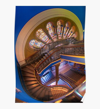 The Grand Staircase, Queen Victoria Building, Sydney Poster
