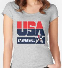 USA Basketball 1992 Dream Team Women's Fitted Scoop T-Shirt