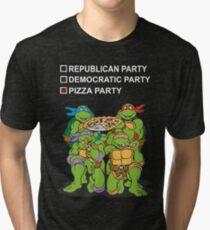 Ninja Turtles Pizza Party Tri-blend T-Shirt