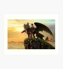 Wie man deinen Drachen ausbildet 10 Kunstdruck