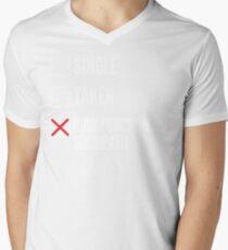 SHERLOCK SINGLE TAKEN HIGH FUNCTIONING SOCIOPATH Men's V-Neck T-Shirt