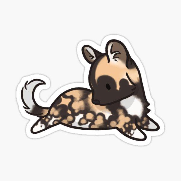 Tierbohnen - Afrikanischer Wildhund Sticker
