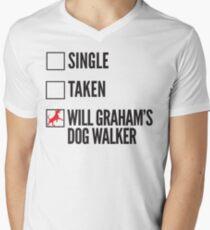 SINGLE TAKEN WILL GRAHAM'S DOG WALKER HANNIBAL Men's V-Neck T-Shirt