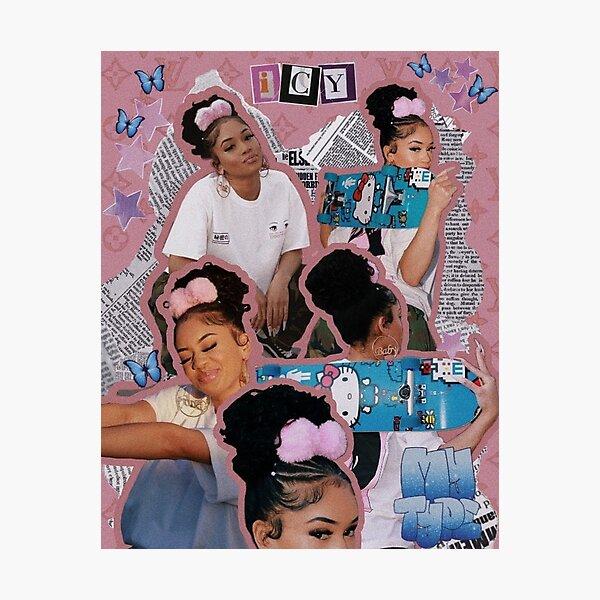 saweetie aesthetic collage Photographic Print