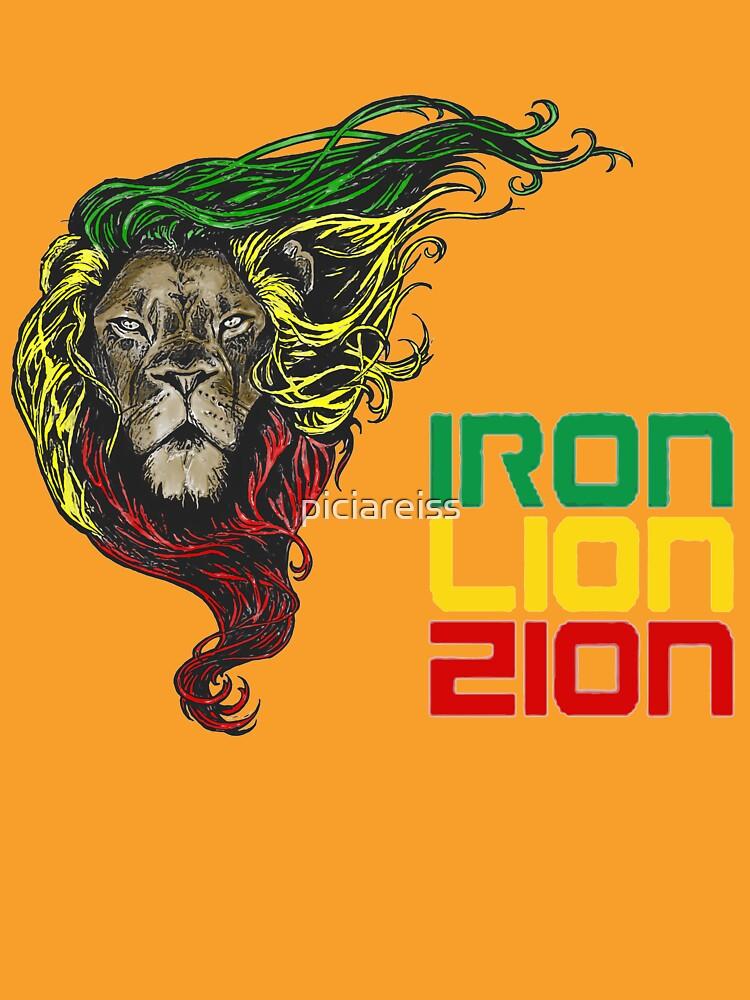 Reggae Rasta Iron, Lion, Zion 3 by piciareiss