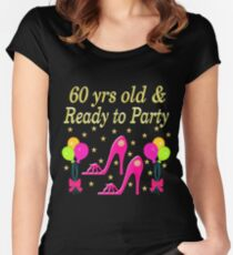 60 YEARS OLD AND READY TO PARTY Women's Fitted Scoop T-Shirt