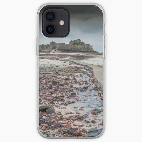 Red pebbles at Elizabeth Castle Jersey iPhone Soft Case