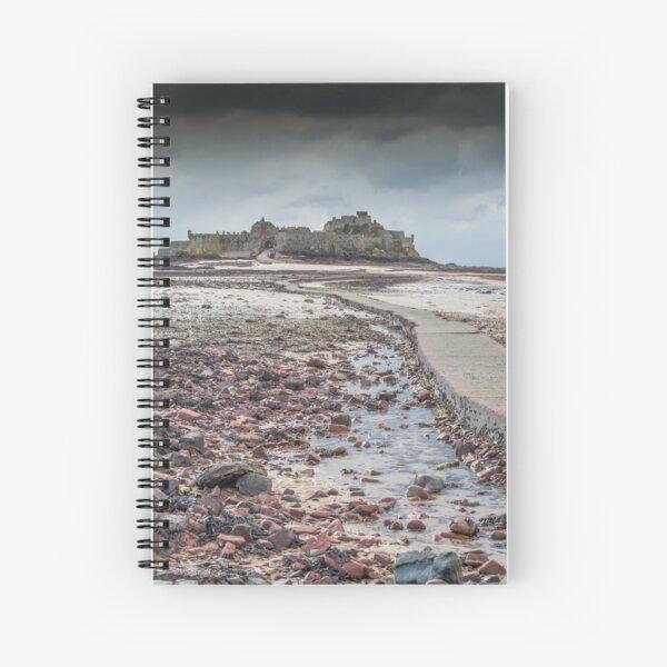 Red pebbles at Elizabeth Castle Jersey Spiral Notebook