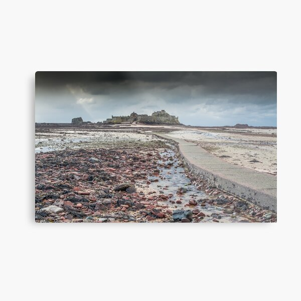Red pebbles at Elizabeth Castle Jersey Metal Print