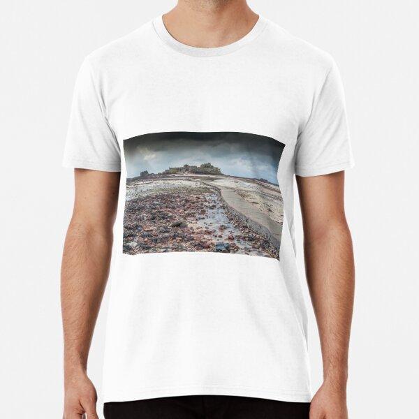 Red pebbles at Elizabeth Castle Jersey Premium T-Shirt