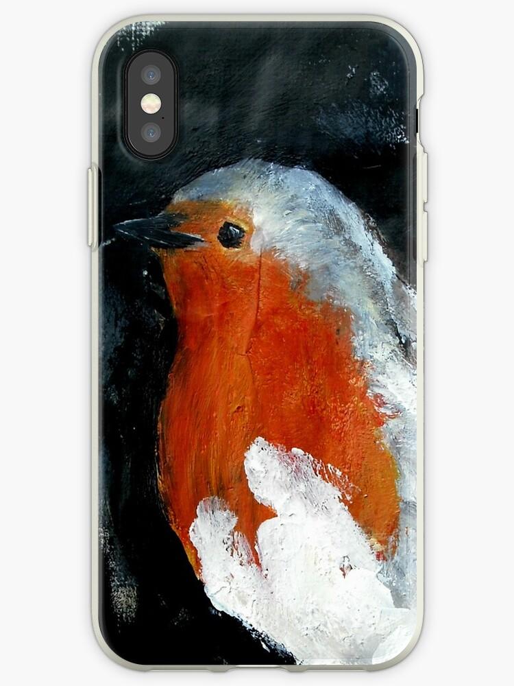 Robin Red Breast Wild Bird Acrylic Painting