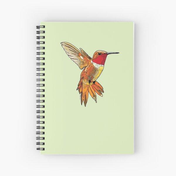 Rufous Hummingbird for Home Art etc Spiral Notebook