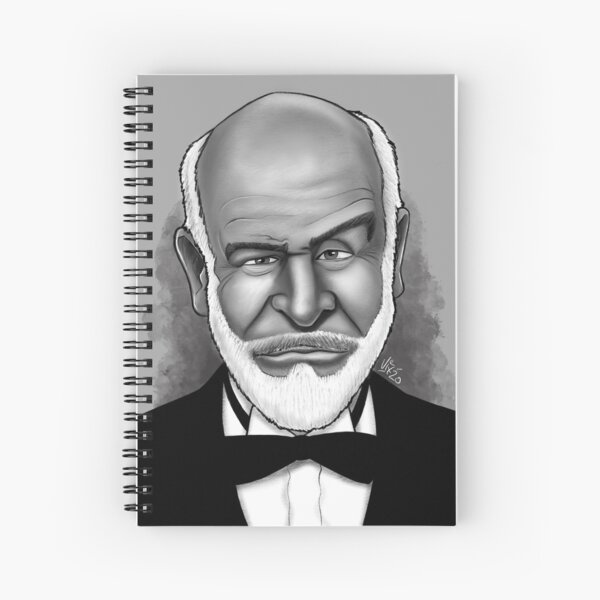 Sean Connery Caricature Portrait Spiral Notebook
