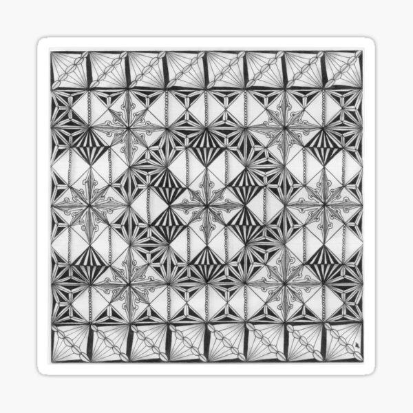 Zentangle®-Inspired Art - ZIA 41 Sticker