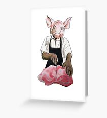 Cannibalpigsm Greeting Card