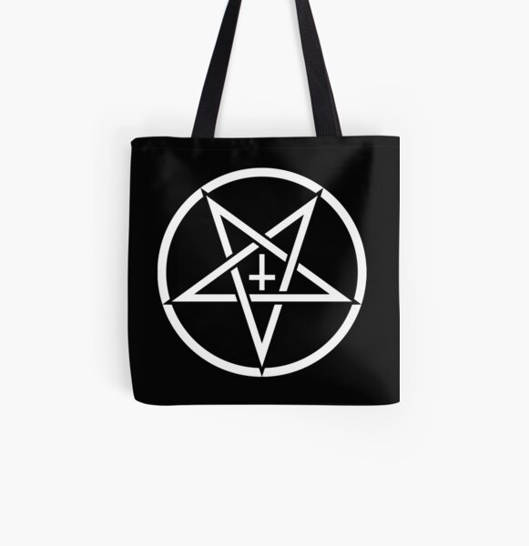 upside down cross Tote bag purse