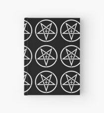 Pentagram with Upside Down Cross Hardcover Journal