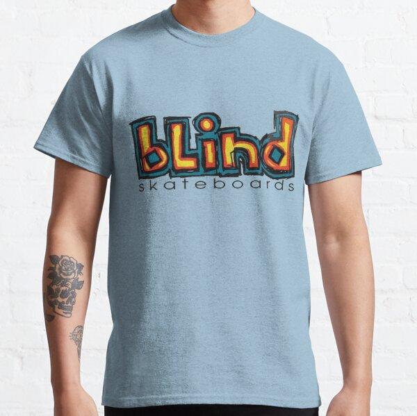 Diseño de camiseta ciega, monopatín. Camiseta clásica