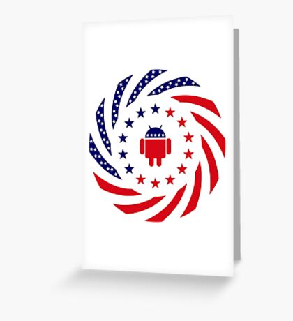 Android Murican Patriot Flag Series Greeting Card