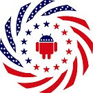 Android Murican Patriot Flag Series by Carbon-Fibre Media