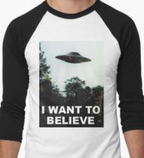 Camiseta ¾ bicolor para hombre Quiero creer