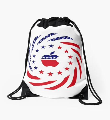 Apple Murican Patriot Flag Series Drawstring Bag