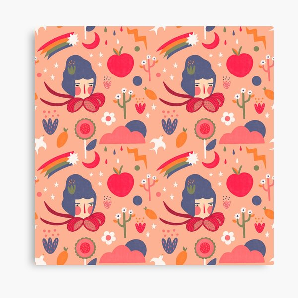 Weather look peachy Canvas Print