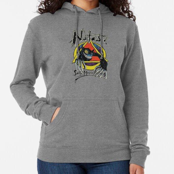 Natas psycho cat, skateboard t shirt design. Lightweight Hoodie