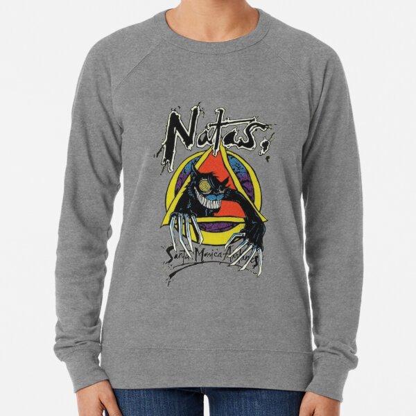 Natas psycho cat, skateboard t shirt design. Lightweight Sweatshirt