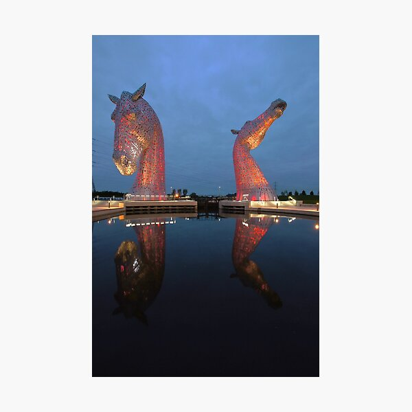 Lit-Up Kelpies Photographic Print