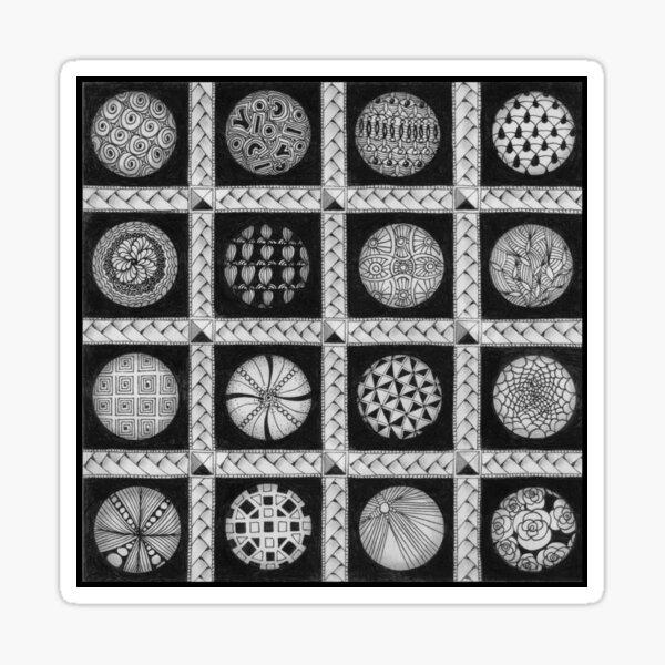 Zentangle®-Inspired Art - ZIA 49 Sticker