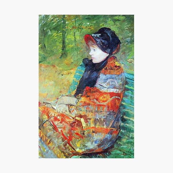 Autumn: Profile of Lydia by Cassatt. Classic painting, impressionism Photographic Print