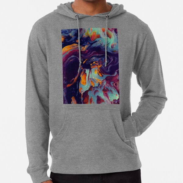 Acrylic Fluid Abstract  Lightweight Hoodie