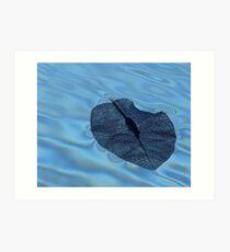 Floating frailty Art Print