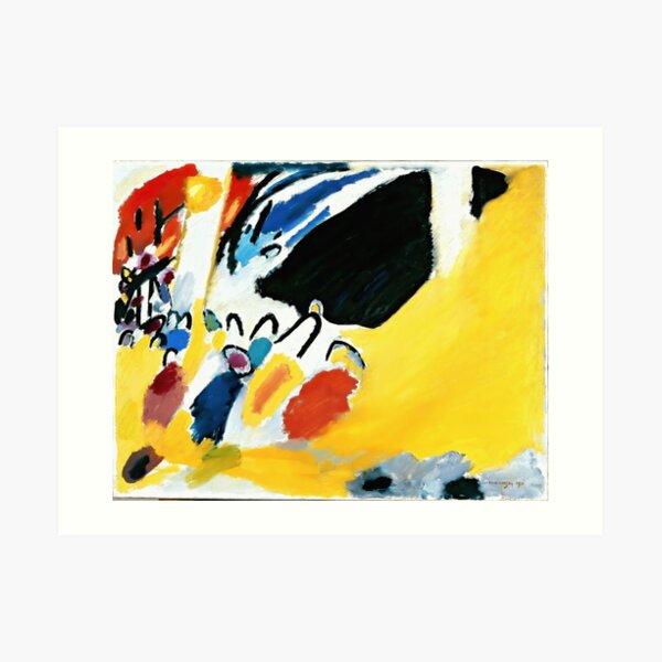 Kandinsky Impression III (Concierto) 1911 Reproducción de obras de arte, diseño para carteles, grabados, camisetas, hombres, mujeres, niños, jóvenes Lámina artística
