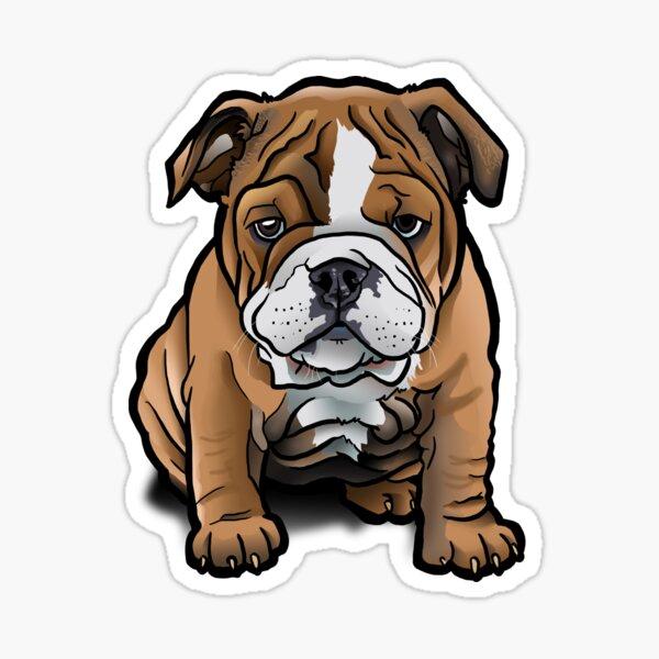 Bulldog Pup Sticker